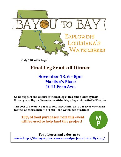 Bayou to Bay final leg Benefit by trudeau
