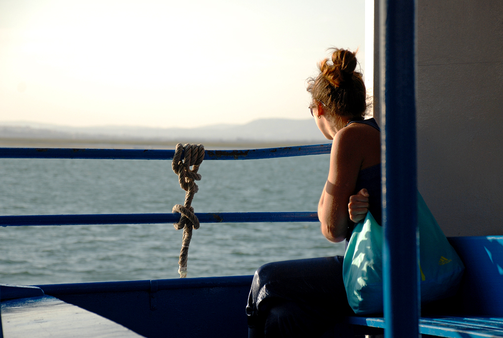 On the ferry to Ilha do Farol