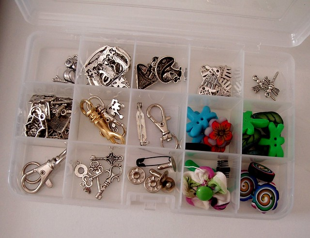 my box of charms and other supplies