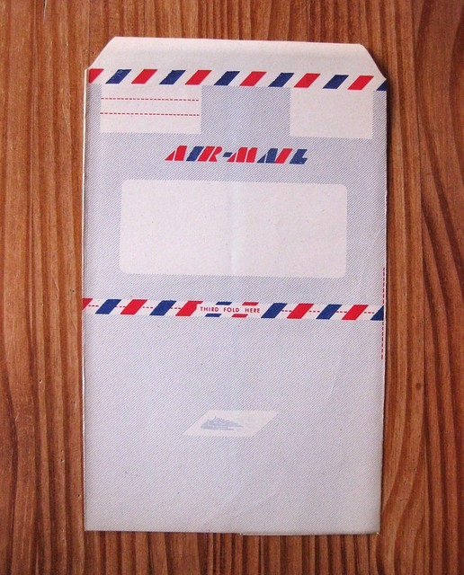 Vintage air mail envo-letters stationery