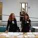 Britta Koch und Nicole Ruppert vom DZD am Empfang