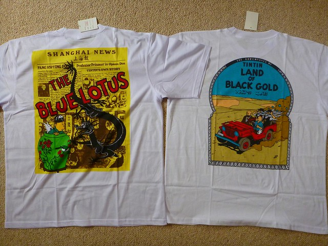 Tintin tshirts bought from Stanley Markets Hong Kong