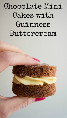 chocolate mini cakes with guinness buttercream icing