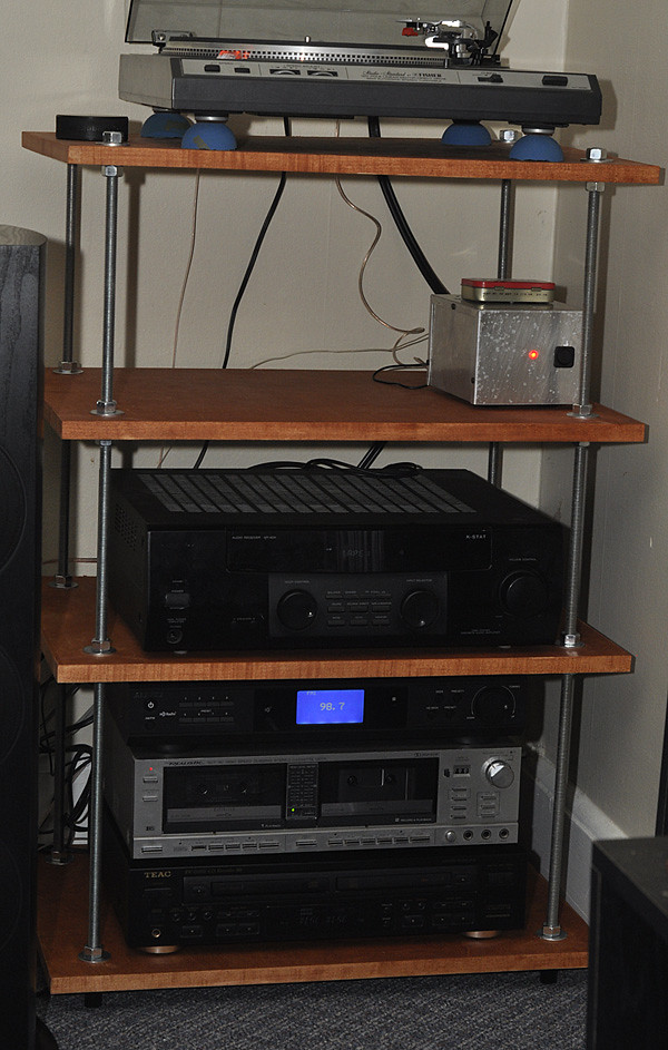Elegant Audio Cabinet with Turntable Shelf