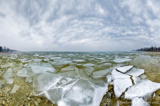 Lake Michigan ... candle ice field