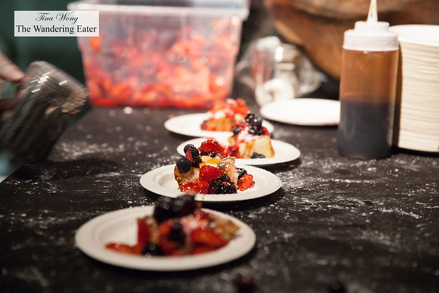 French toast topped with fresh berries by Bustan