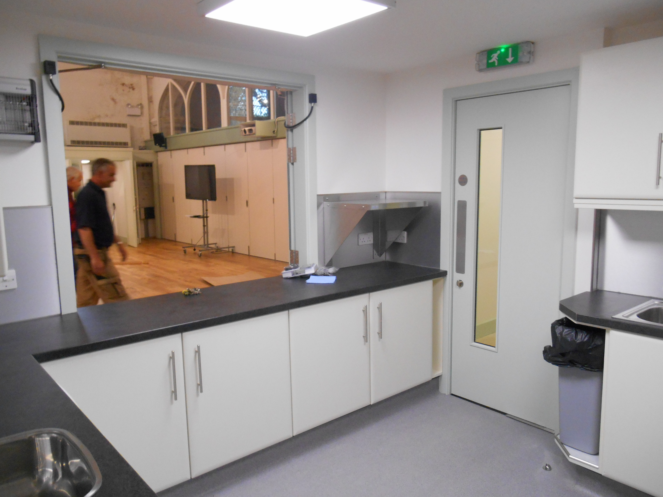 The new kitchen at St Deinst, Herefordshire, Llangarron