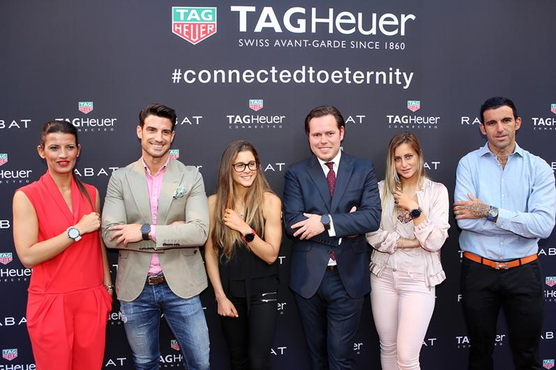 De izq. a derecha, Blanca Panzano, Directora General de TAG Heuer, A.Ocio, G.Pulido, Jordi Rabat, L.Marti+¦o y J.Ajram