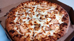 Chicken Alfredo Pizza From Domino's