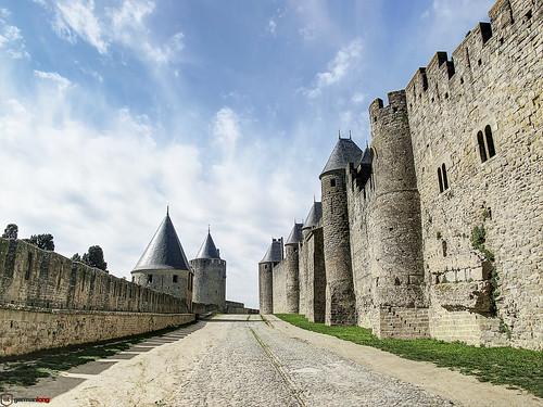sky france castle europa europe towers walls francia carcassonne castillo muros 2011