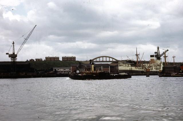 A tugboat on the Tyne