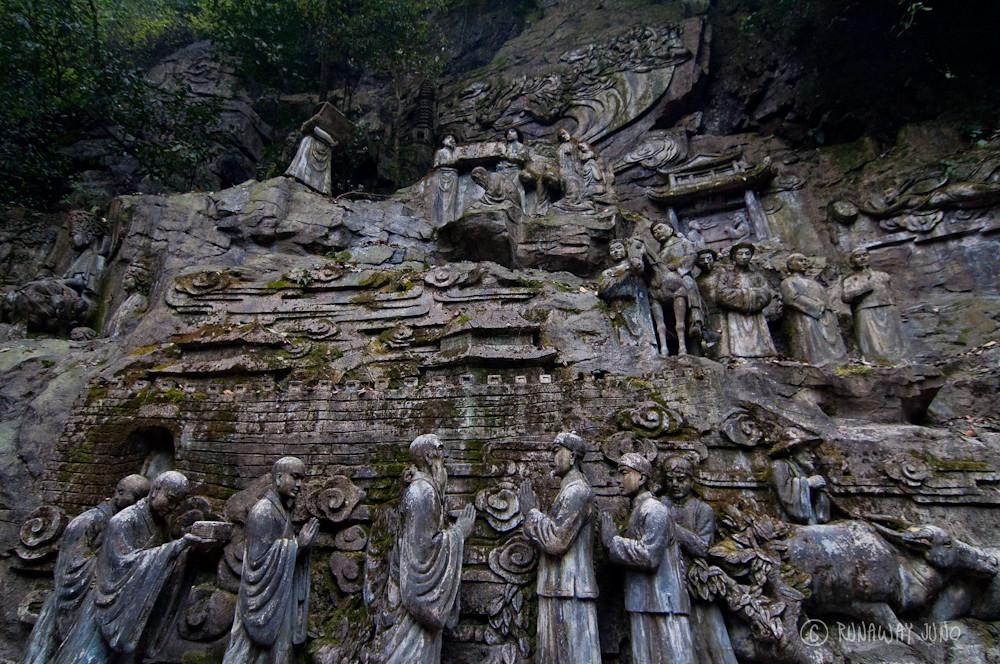 Carving of Emperor of Kangxi in Emei Shan