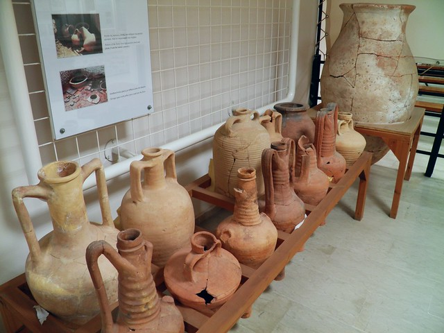 Amphorae for wine and oil, Archaeological Museum, Dion