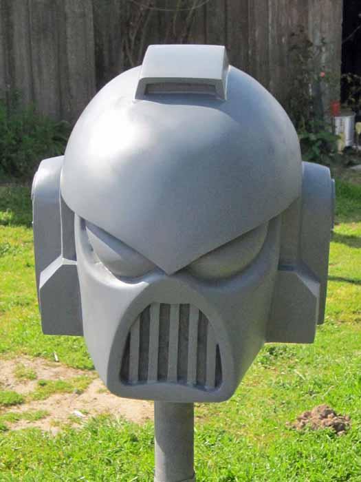 SM Helmet Prototype Primed 1