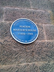 Photo of Joseph Paxton and Station Master's House blue plaque