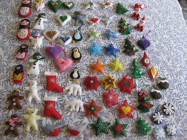 Felt Christmas Tree Decorations Flickr Photo Sharing