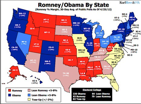 Karl Rove39s Election Map South Carolina39s A Swing State