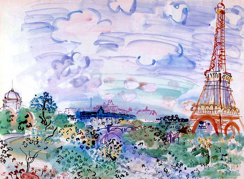 Dufy, Raoul  (French, 1877-1953) - The Eiffel Tower  - 1935