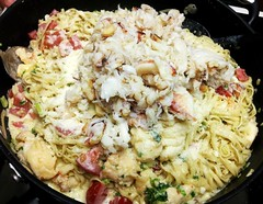 Crab & Lobster Linguine with Brandy & Sherry Cream Sauce 1