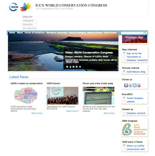 IUCN Conservation Congress, Screenshot 03.2012