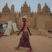 the great mud mosque in Djenne, sahel, mali