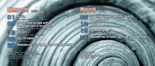 March/April 2012 Flyer (Back)