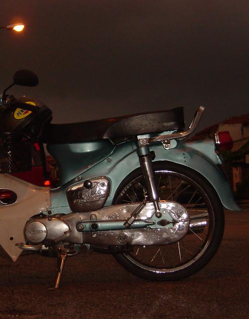 Motorbike in evening