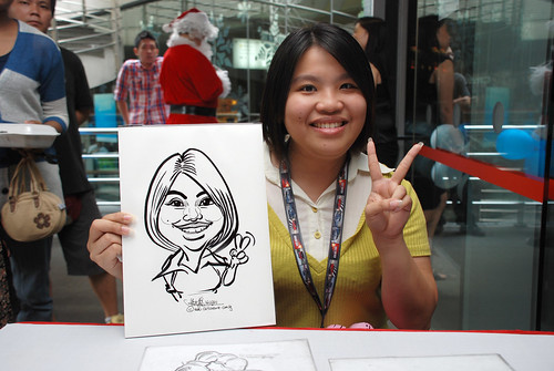 Caricature live sketching for Singapore Suntec City Annual Party - 19