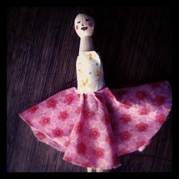 Penelope peg doll blushed profusely #peg #doll #handmade #kidcraft #owlets
