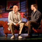 MacIntyre Dixon (Old Man) and Brian Sgambati (Peter) in the Huntington Theatre Company's production of PRELUDE TO A KISS playing at the BU Theatre. Part of the 2009-2010 season. Photo: T. Charles Erickson