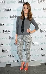 Jessica Alba Cap Toe Heels Celebrity Styling Fashion