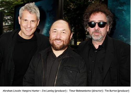 Jim Lemley,Timur Bekmambetov and Tim Burton