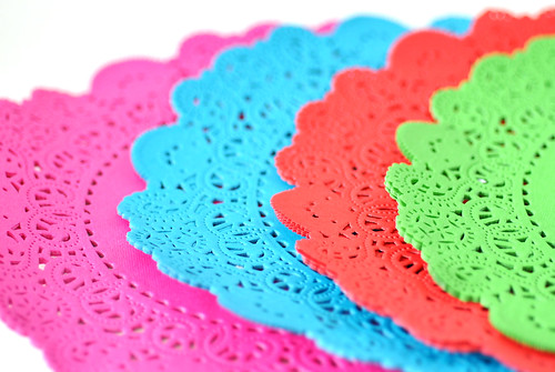 Bright doilies