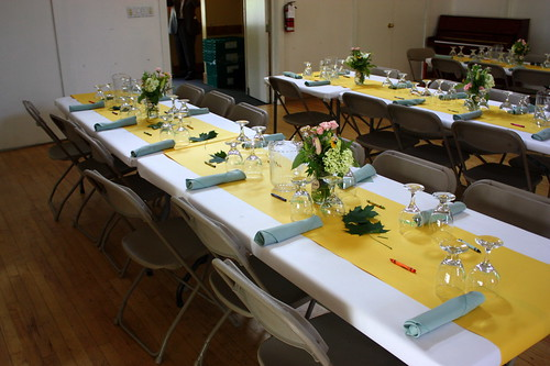 The tables sat 12 people so we wanted to do 2 arrangements per table