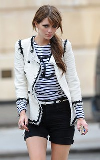 Mischa Barton Tweed Jacket Celebrity Style Women's Fashion 3