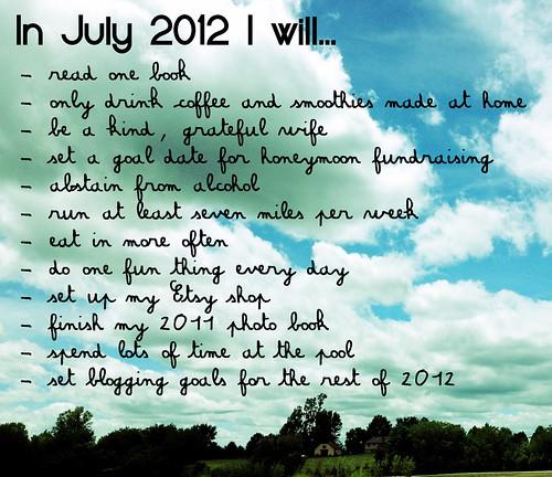 July 2012 Goals