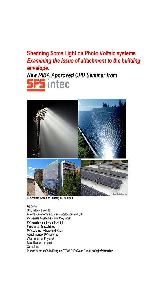 RIBA Approved CPD on PV Systems