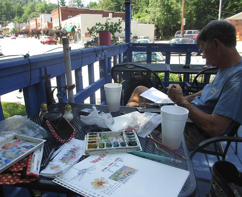 don and me drawing in saluda