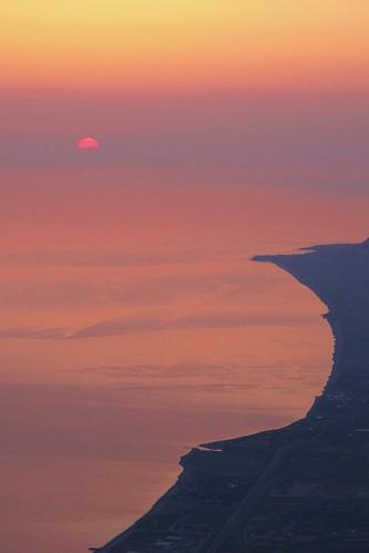 L' alba vista dal Monte S. Calogero 1336 Mt