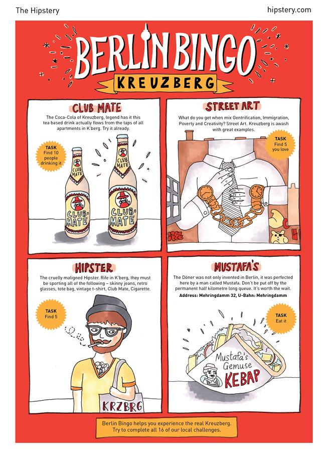 Berlin Bingo: Kreuzberg card front