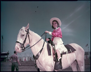 Margaret Currie, judged the 'Best Dressed Girl' at the Calgary Stampede / Margaret Currie, gagnante du prix de la fille au meilleur costume du Stampede de Calgary