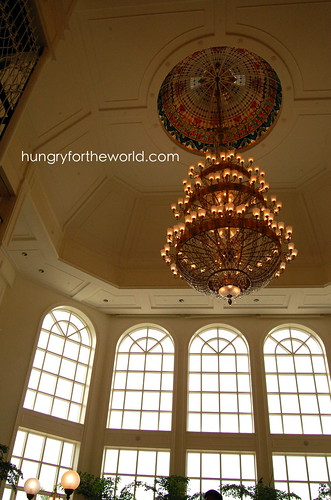 chandelier at the lobby