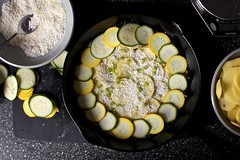 summer squash torte, simplified