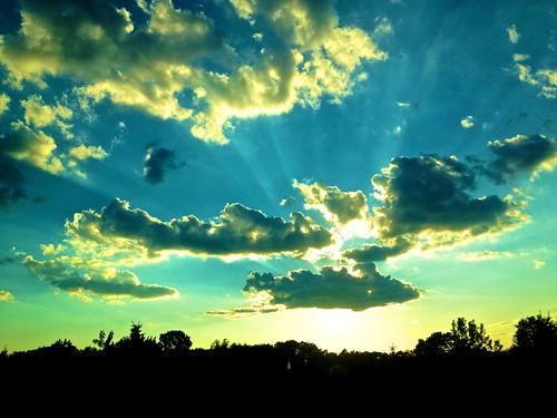 [フリー画像素材] 自然風景, 空, 雲, 薄明光線, 風景 - アメリカ合衆国 ID:201207242000