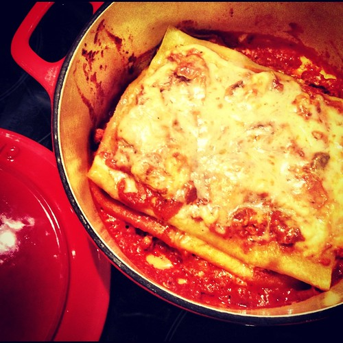 Chicken and liver Lasagne