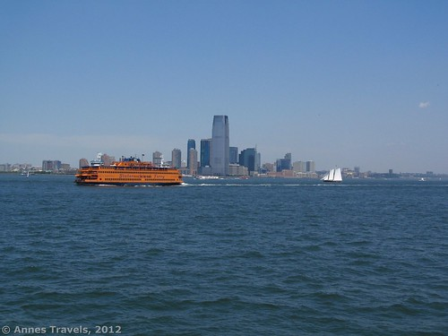 Passing another Staten Island Ferry in New York Harbor