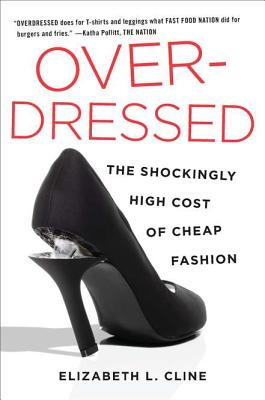 cover of OVERDRESSED showing  a black heel breaking at the tip