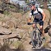 Bikers (and LANL Postdocs) Brent and Pam in Los Alamos canyon riding hard on the trail