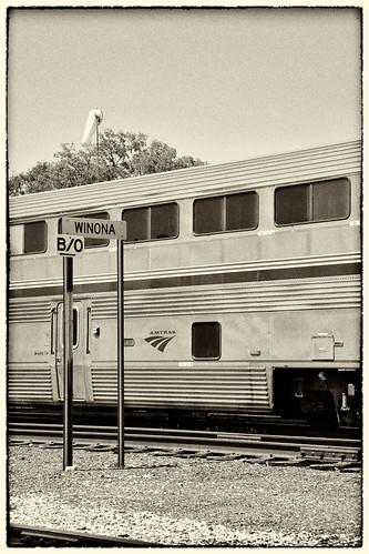 Amtrak Winona MN 30 June 2012