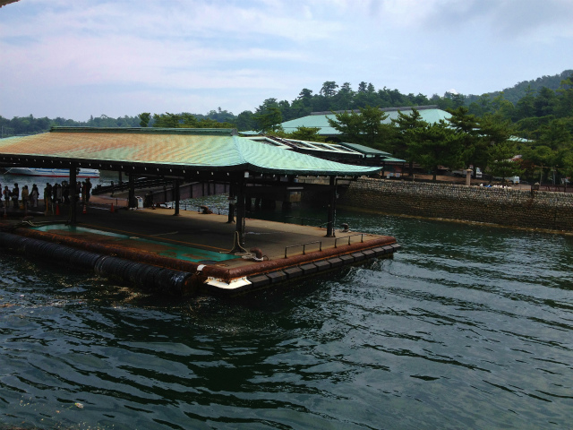 宮島桟橋に到着